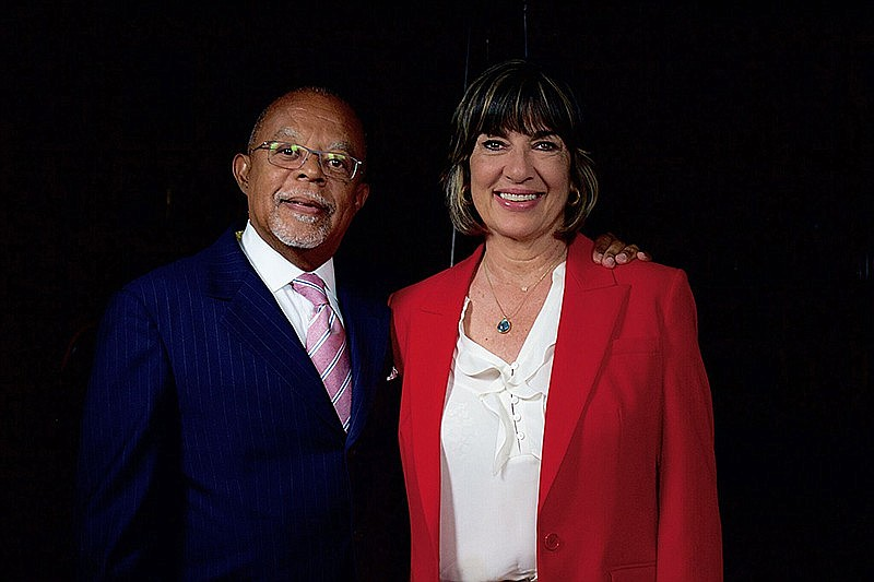 Host Henry Louis Gates, Jr. with journalist Christiane Amanpour while taping ...