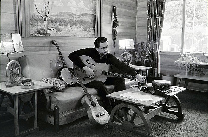 Johnny Cash at his home in Calif., 1960.
