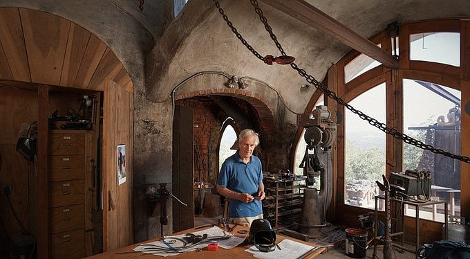 Jim Hubbell in his Julian, Calif. studio.