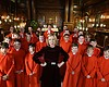 Lucy Worsley with the choir of Hampton Court Ch...