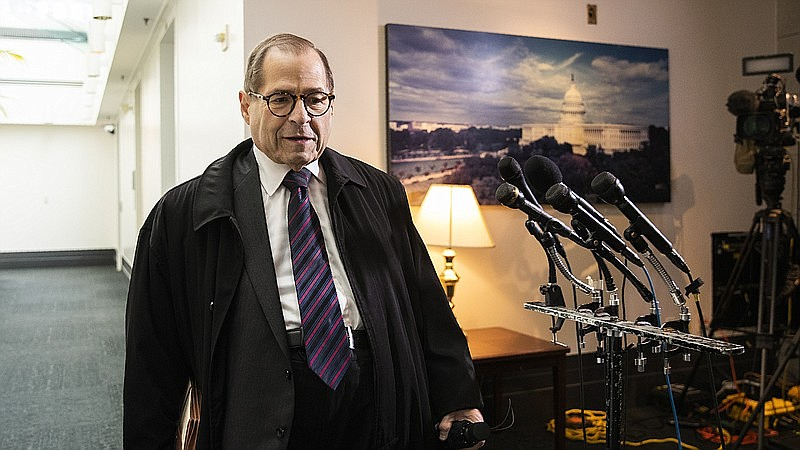 House Judiciary Committee Chairman Jerry Nadler, D-N.Y., leaves at the conclu...