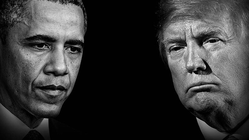 Barack Obama and Donald Trump. In