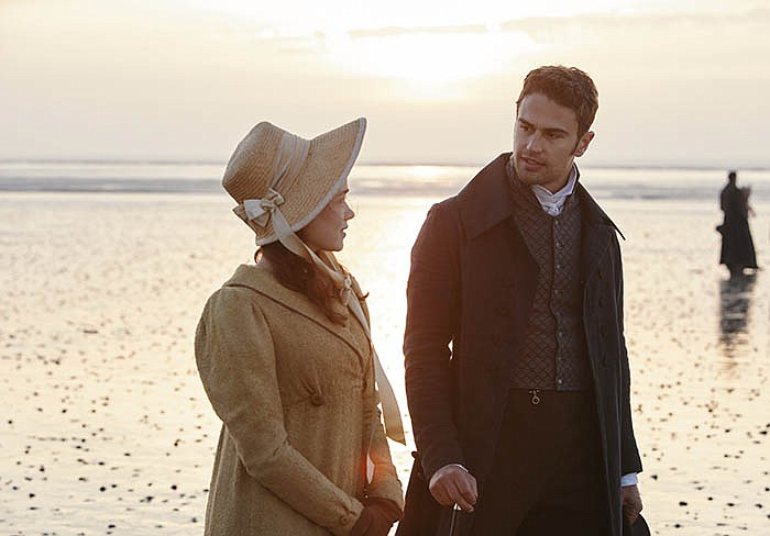 Shown from left to right: Rose Williams as Charlotte Heywood and Theo James a...