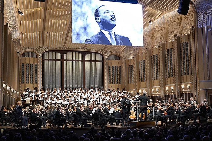 The concert marks both the 50th anniversary of Dr. King's assassination and t...