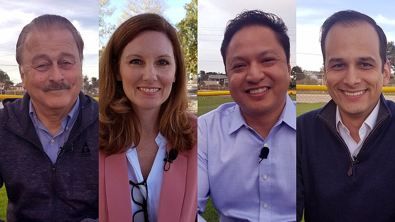 San Diego City Council District 7 candidates Monty McIntyre, Wendy Wheatcroft...