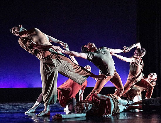 San Diego Dance Theater performs 'Janus' on stage at the Saville Theatre.