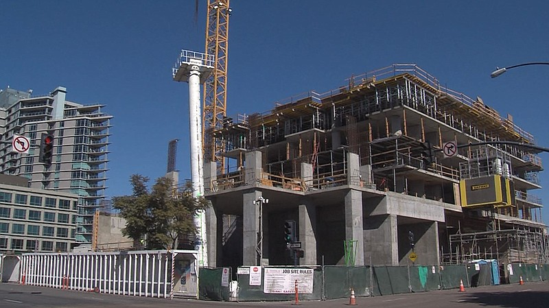 A Pinnacle International building under construction in San Diego's East Vill...