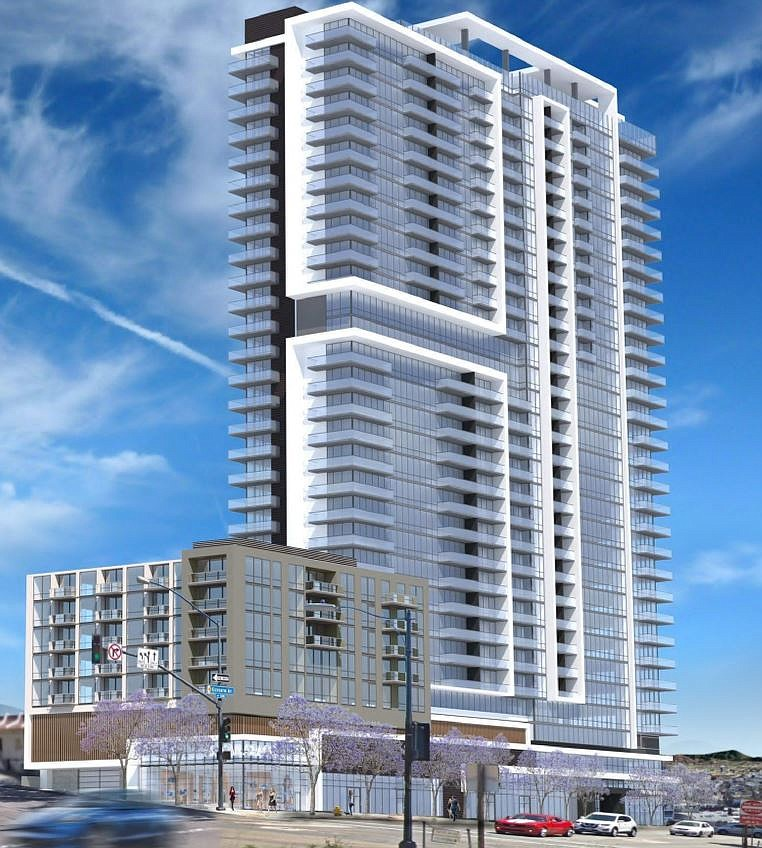 The Pinnacle Pacific Heights project proposed for San Diego's East Village ne...