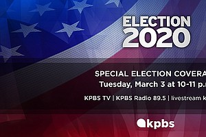 Photo for KPBS News Special: Election 2020: California Primary