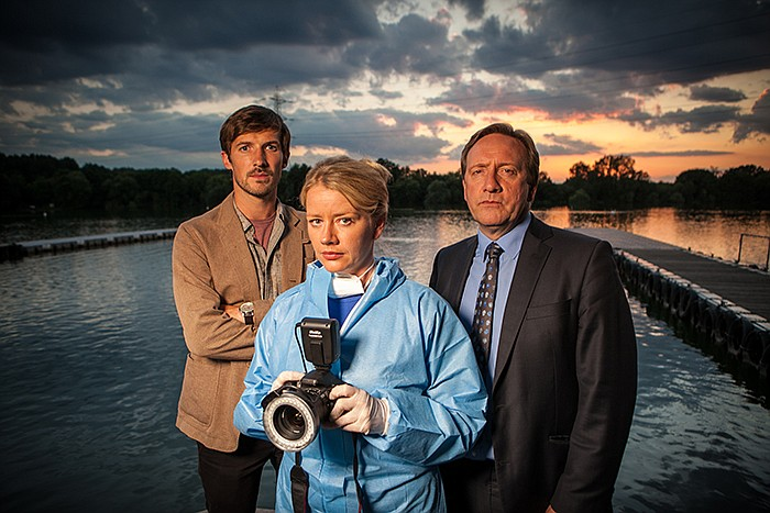 Gwilym Lee as DS Charlie Nelson, Tamzin Malleson as Kate Wilding and John Net...