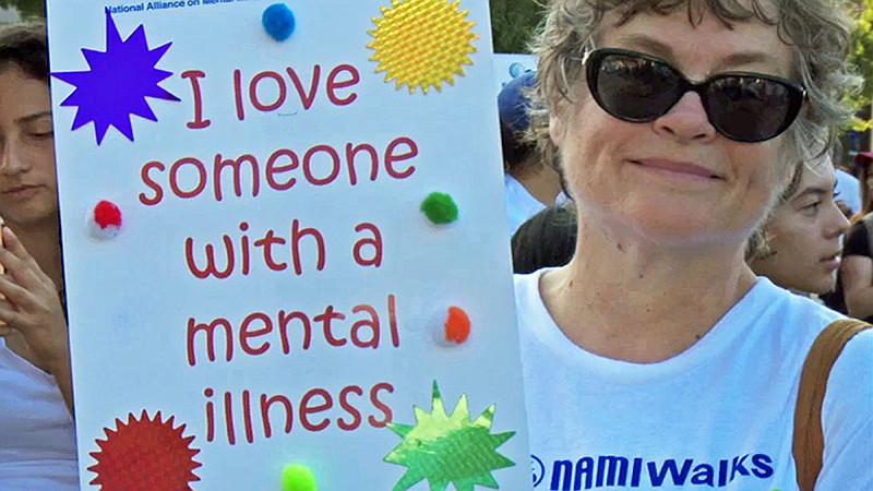 NAMWalks (National Alliance for the Mentally Ill) participant in Los Angeles....