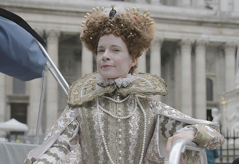 Lucy Worlsey dressed as Queen Elizabeth I.