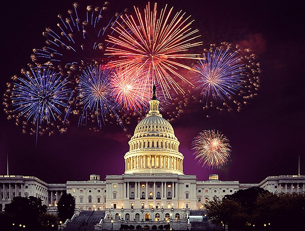Fireworks over the U.S. Capitol