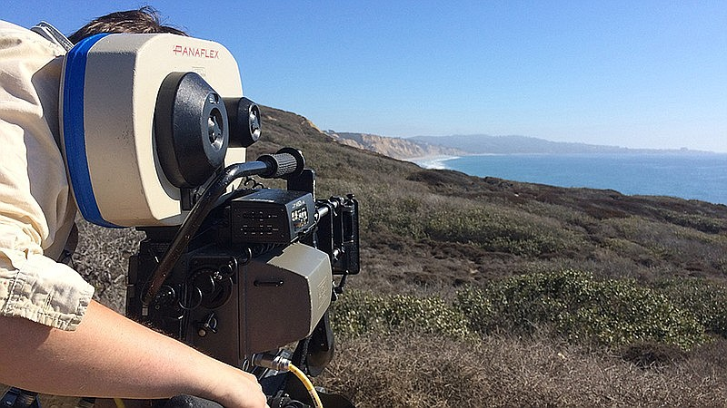 Director of Photography Alan C. McLaughlin lines up a shot from Torrey Pines ...