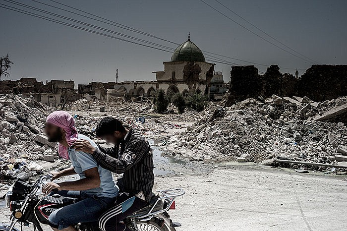 A view of Al Nuri Mosque where ISIS declared the caliphate in 2015. Mosul, Iraq.