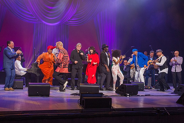 The cast of the 2017 International Jazz Day All-Star Global Concert performs ...