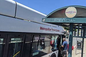 MTS Retires Last Diesel Buses, Welcomes Electric Buses To Fleet