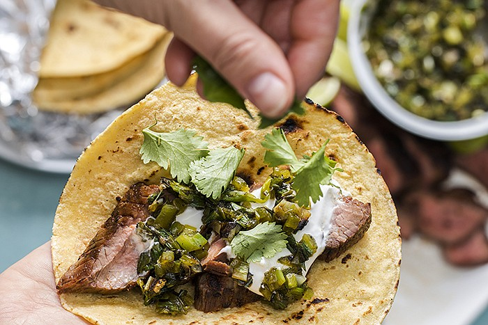 Test cook Keith Dresser reveals the secrets to perfect Grilled Flank Steak Ta...
