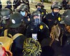 Protesters clash with police in downtown San Di...