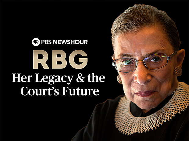 Key art featuring Ruth Bader Ginsburg for