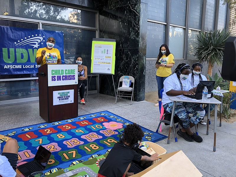 Lynn James, a childcare provider in San Diego, talks about need for more gove...