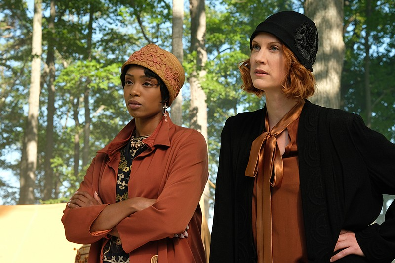 FRANKIE DRAKE MYSTERIES stars Lauren Lee Smith (CSI) as Frankie (right) and C...