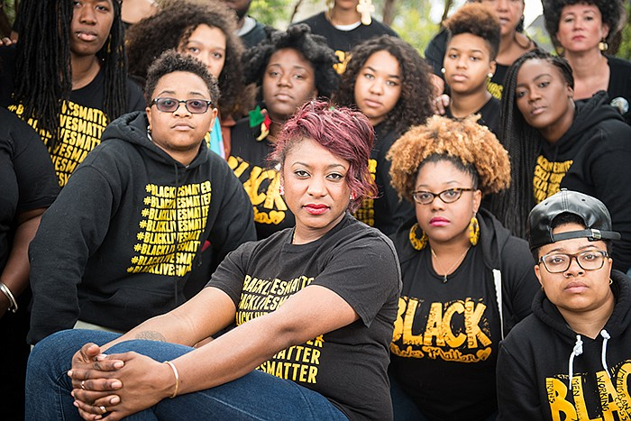 Political strategist and co-founder of Black Lives Matter, Alicia Garza, with...