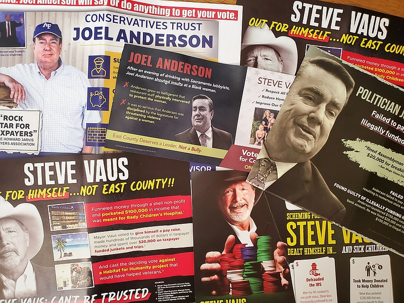 Campaign mailers sent about former state Assemblyman Joel Anderson and Poway ...
