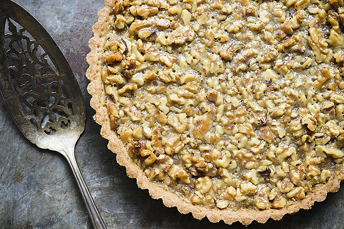 Buttery and rich French Walnut Tart