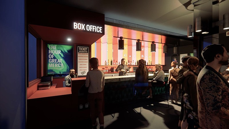 A rendering of what Diversionary Theatre's new lobby with a box office and fu...