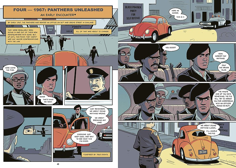 A sample from David F. Walker's new graphic novel,