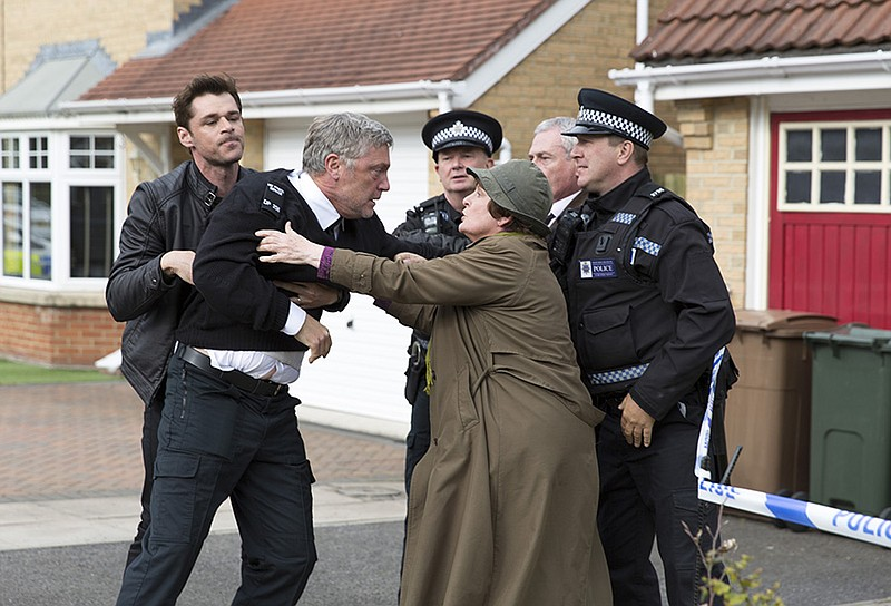 A scene from VERA Season 8 featuring DS Aiden Healy (Kenny Doughty) and DCI V...