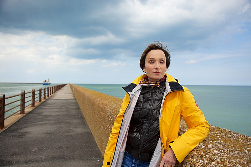Actress Kristin Scott Thomas on The Mole in Dunkirk, France. Her grandfather,...