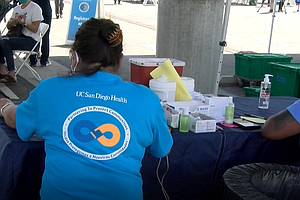 Photo for Community Fair Helps San Diegans Get A Shot In The Arm