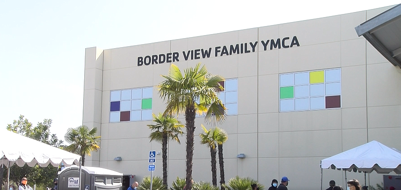Border View YMCA is shown in this photograph. April, 12, 2021. It is open for...