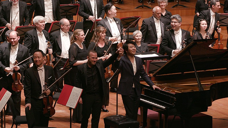 """Conductor Yannick Nézet-Séguin with pianist Lang Lang. GREAT PERFORMANCES """"Be..."""