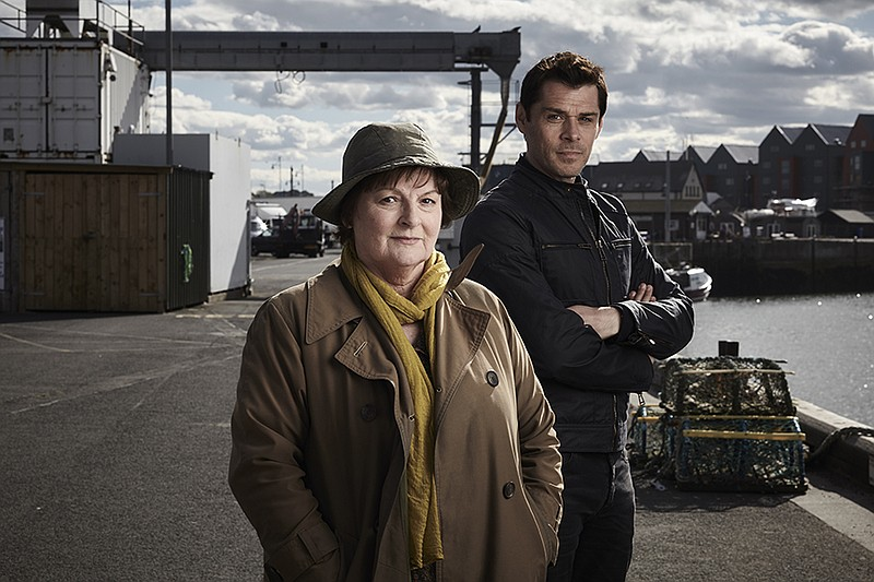 DCI Vera Stanhope (Brenda Blethyn) with DS Aiden Healy (Kenny Doughty) in a s...