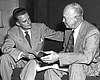 Billy Graham (left) with President Dwight D. Ei...