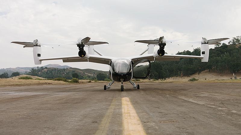 Joby Aviation's vertical takeoff electric aircraft.