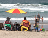 Family of five enjoying Mission Beach without a...