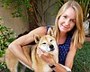 KPBS reporter Claire Trageser with her dog Kima...