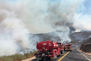 Wildfires Continue To Burn In San Diego County