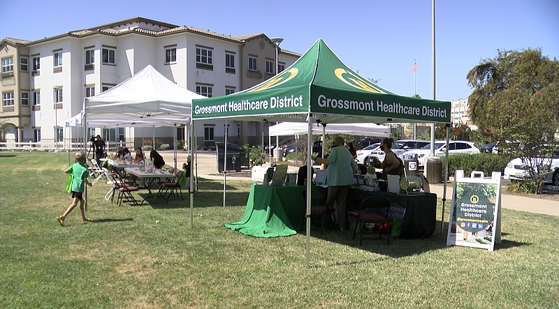 A Grossmont Healthcare District tent welcomes East County families to the Fam...