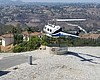San Diego Sheriff helicopter hovers over the 'h...