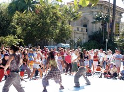 Dance performance outdoors in Balboa Park.