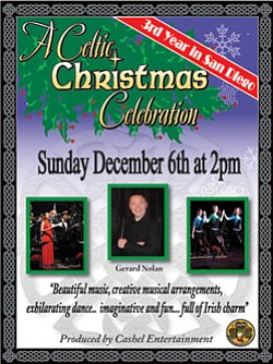 "Promotional graphic for ""A Celtic Christmas Celebration"" ..."