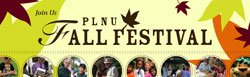 Promotional graphic for the PLNU Fall Festival on October 17, 2009.