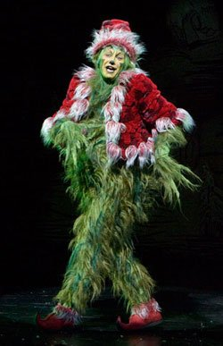 "Kevin Bailey as The Grich in the 2008 production of ""Dr. Seuss' How The Grinch Stole Christmas!"" Photo by Craig Schwartz."