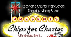 Promotional graphic for Chips for Charter Fundraiser on October 10, 2009 at 6 p.m.
