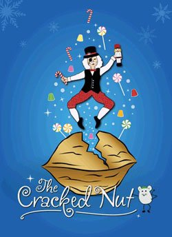 "Promotional graphic for ""The Cracked Nut"" performances at the Coronado High Performing Arts Center December 11-13, 2009."
